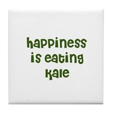 happiness is eating kale Tile Coaster