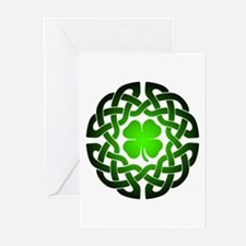 Clover knot Greeting Cards