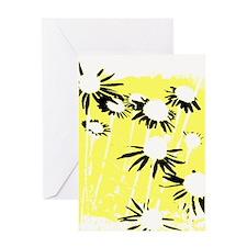 Cutout daisies Greeting Cards