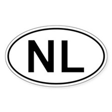 Dutch Oval Car Sticker - Nl For Netherlands