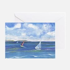 Cute Azure coast Greeting Card