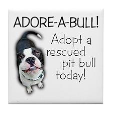 Adore-A-Bull! Pit Bull Tile Coaster