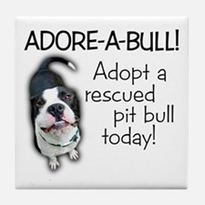 Adore-A-Bull! Pit Bull Tile Coaster