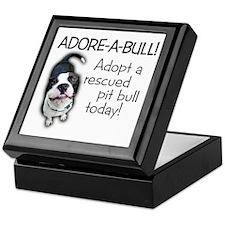 Adore-A-Bull! Pit Bull Keepsake Box