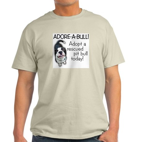 Adore-A-Bull! Pit Bull Ash Grey T-Shirt