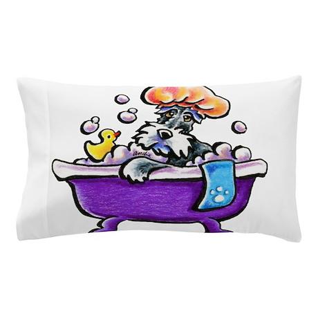 Cute Bath Pillow : Schnauzer Bath Pillow Case by ahamiltonart