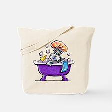 Schnauzer Bath Tote Bag