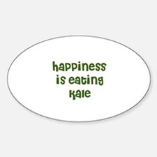 happiness is eating kale Oval Decal
