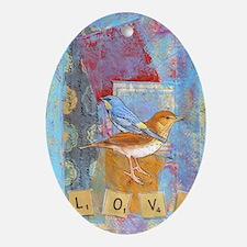 Infinite Love andGratitude Oval Ornament
