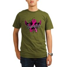 Cute Cancer ribbon with wings T-Shirt