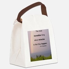 Miracles Quote Canvas Lunch Bag