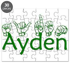 Ayden in ASL Puzzle