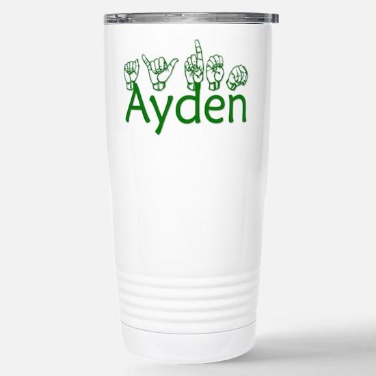 Ayden in ASL Travel Mug