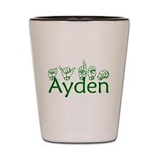Ayden in ASL Shot Glass