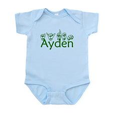 Ayden in ASL Body Suit