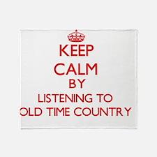Old time radio Throw Blanket