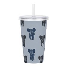 Blue Elephants Acrylic Double-wall Tumbler