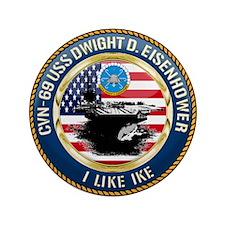 "CVN-69 USS Eisenhower 3.5"" Button"