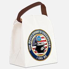 CVN-69 USS Eisenhower Canvas Lunch Bag