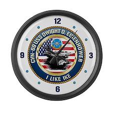 CVN-69 USS Eisenhower Large Wall Clock