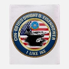 CVN-69 USS Eisenhower Throw Blanket