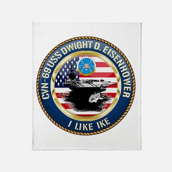 CVN-69 USS Eisenhower Throw Blanket