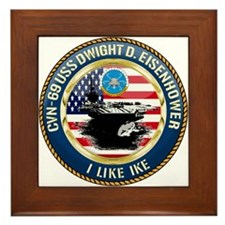 CVN-69 USS Eisenhower Framed Tile