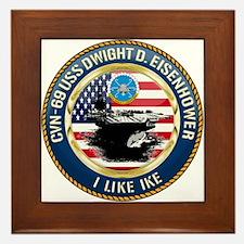 CVN-69 USS Eisenhower Framed Tile