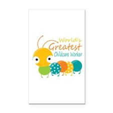 World's Greatest Childcare Wo Rectangle Car Magnet