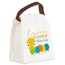 World's Greatest Childcare Worker Canvas Lunch Bag