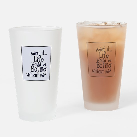 Funny Bored Drinking Glass