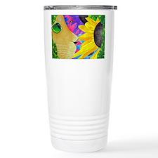 Cat With Hibiscus Travel Mug