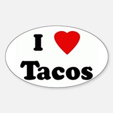 Unique I heart tacos Sticker (Oval)