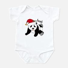 Christmas Panda Custom Infant Bodysuit