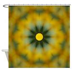 Sunflower Kaleidoscope Art Shower Curtain