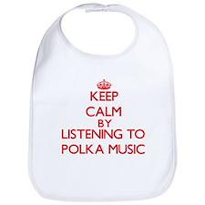 Cute Love polka Bib