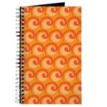 Art Deco Curl Wave orange Journal