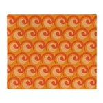 Art Deco Curl Wave orange Throw Blanket