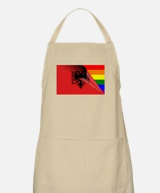 Albania Gay Pride Rainbow Flag Apron