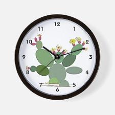 Calico Cactus Wall Clock