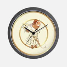 Daisy Bouquet Mouse Wall Clock