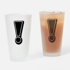 Exclamation | Black Drinking Glass
