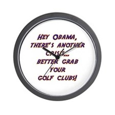 Hey Obama Wall Clock