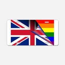 U.K. Gay Pride Rainbow Flag Aluminum License Plate