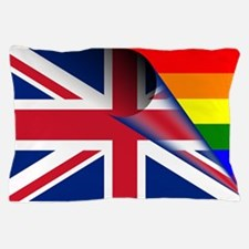 U.K. Gay Pride Rainbow Flag Pillow Case