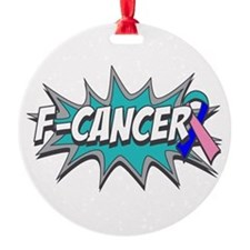 F Thyroid Cancer Ornament