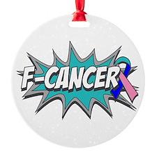F Thyroid Cancer Round Ornament
