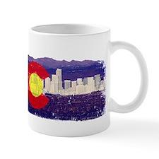 DenverSkylineCoFlag Small Mugs
