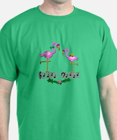 Dancing Pink Flamingos - T-Shirt