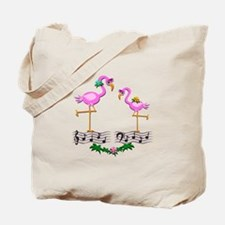 Dancing Pink Flamingos - Tote Bag